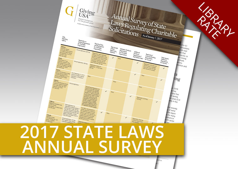 Library Rate for Annual Survey on State Laws Regulating Charitable Solicitations as of January 1, 2017