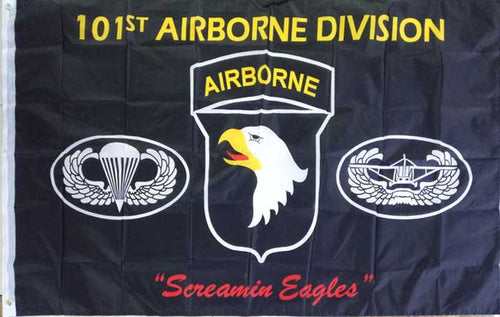 101St Airborne Division Screamin Eagles Flag 3 X 5