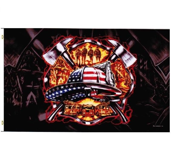 3' x 5'  Firefighter Fire Dept Fireman's Department Flag 3x5