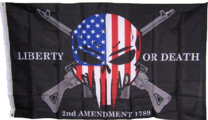 3x5 Liberty or Death 2nd Amendment USA Punisher Skull Rifles 1789 Flag 3'x5'