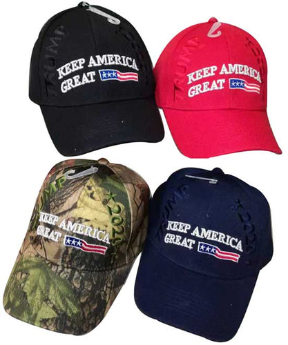 Trump 2020 Keep America Great With Flag Ribbon Cap Lid Top Cover