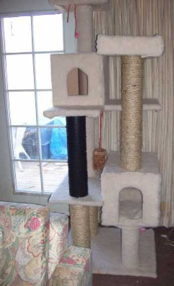 Plans For Making Your Own Cat Tree Scratching Post - PDF File - Instant Download 1.95