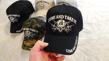 Come and Take It 2nd Amendment with Gun and Skull Embroidery Baseball Hat Cap