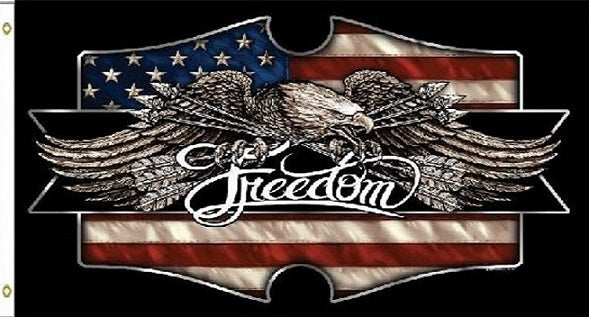 3'x5' Freedom Eagle USA Colorful Display Flag 3x5