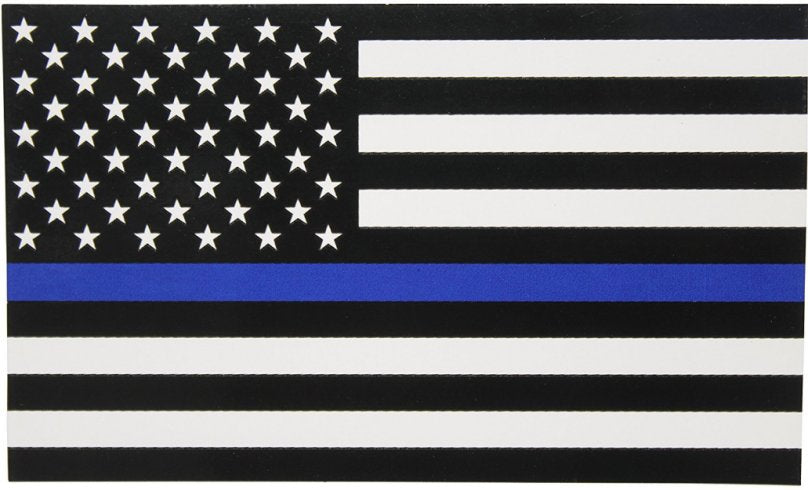 Blue Lives Matter Flag - Thin Blue Line on USA 3x5' Poly Flag