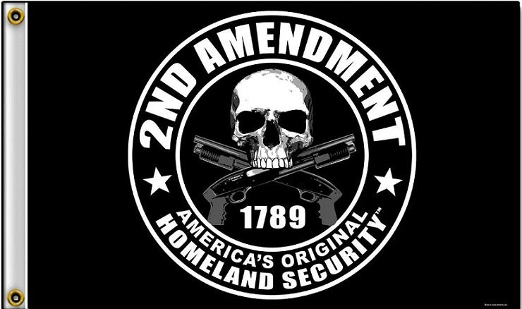 2nd Amendment Flag 3x5 American's Orignal Homeland Security Flag/Wall Poster