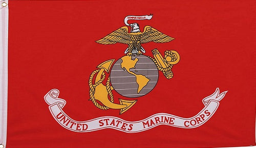 Marine Corps Flag 3'x5' Full Sized Display - Flag/Banner/Poster