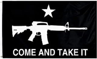 Liberty Or Death Come and Take It Flag Texas Star - Bold Black & White