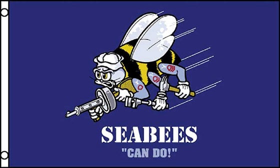Seabees Can Do 3x5 Flag Poster/Banner Display Licensed