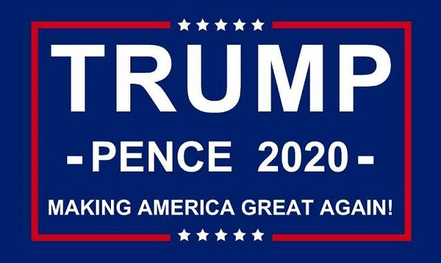 TRUMP/PENCE 2020 3x5ft Making America Great Again - New Design Display Flag