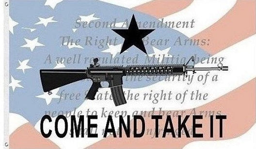 Come And Take It Flag 3ft x 5ft 2nd Amendment 2A Flag