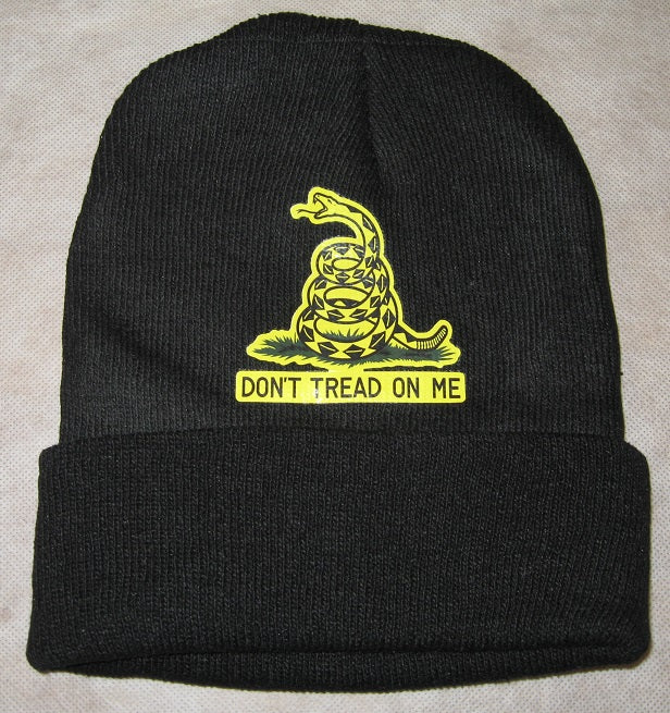 DON T TREAD ON ME  Fall/Winter Knit Hat/Beanie Black