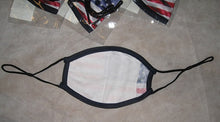 U.S. American Flag Adult sized 2ply Mask Adjustable Sliders Face Covering