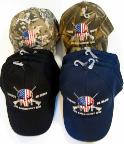 Liberty Or Death 2nd Amendment 1789 Embroidered Baseball Cap Hat