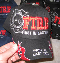 Deluxe Firefighter FILO Hat First In Last Out Cap Firemen Adult Size