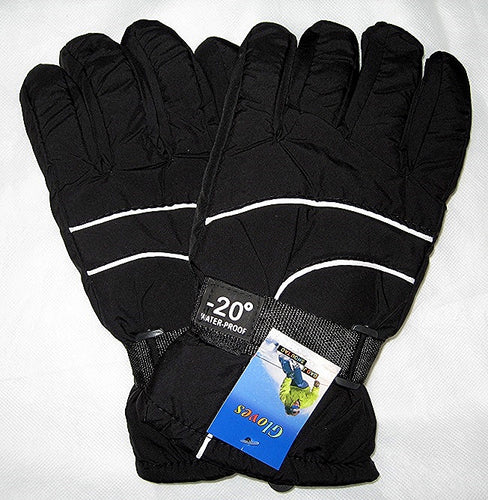 Mens -20° Winter Ski Snow Gloves Adult One Size WaterProof