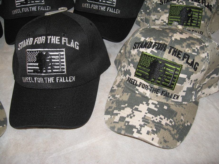 STAND FOR THE FLAG KNEEL FOR THE FALLEN Hat Cap Lid Cover