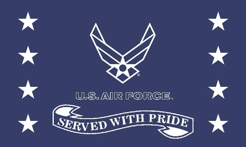 Served with Pride Air Force 3'x5' Screen Print Flag