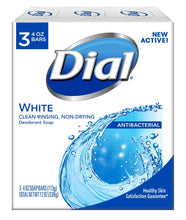 Dial - Antibacterial Deodorant Soap - 4oz Bars - White 3pk