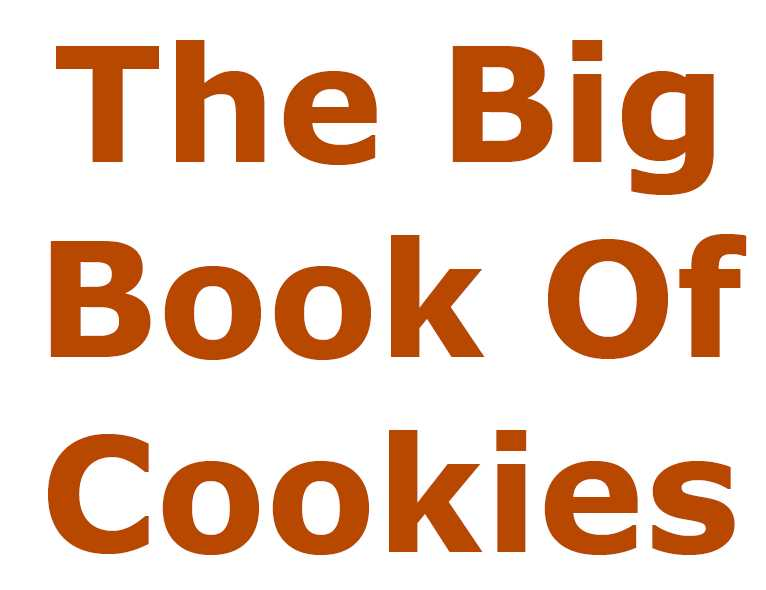 The Big Book Of Cookies - 233 pages of cookie recipes - Instant download only 1.95 USD