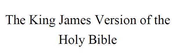 The King James Version of the Holy Bible - PDF format you can take with you - Only 1.95 USD