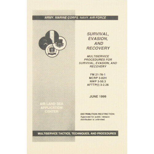 Survival Evasion & Recovery FM 21-76-1 Multiservice eBook Instant Digital Download - PDF file $2.95