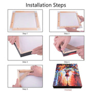 "12""(30cm) Easy DIY Wooden Frame For Oil Paintings, Canvas Posters and Prints"