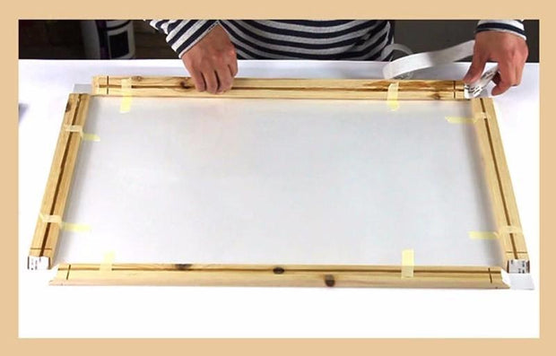 "16""(40cm) Easy DIY Wooden Frame For Oil Paintings, Canvas Posters and Prints"
