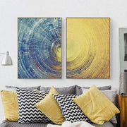 2 Panel Tree Ring Canvas Poster For Wall Decor 35x50cm No Frame / C Canvas