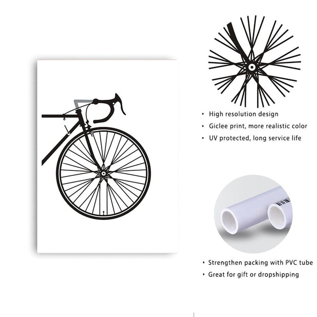 2 Piece Good Looking Bicycle Canvas Print Canvas