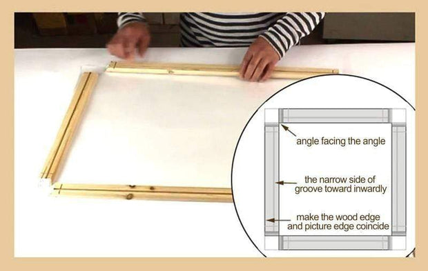 "22""(55cm) Easy DIY Wooden Frame For Oil Paintings, Canvas Posters and Prints"