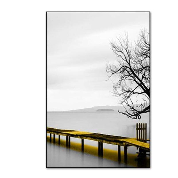 "3 Piece Scenery Of Lake With Bridge And Tree Canvas Print 16""x20"" / PICTURE B Canvas"