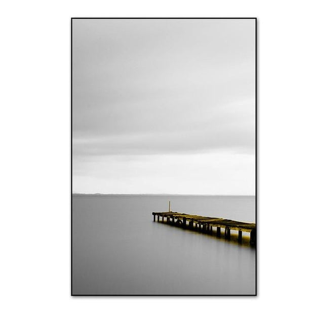 "3 Piece Scenery Of Lake With Bridge And Tree Canvas Print 9""x12"" / PICTURE A Canvas"