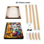 "30""(75cm) Easy DIY Wooden Frame For Oil Paintings, Canvas Posters and Prints"