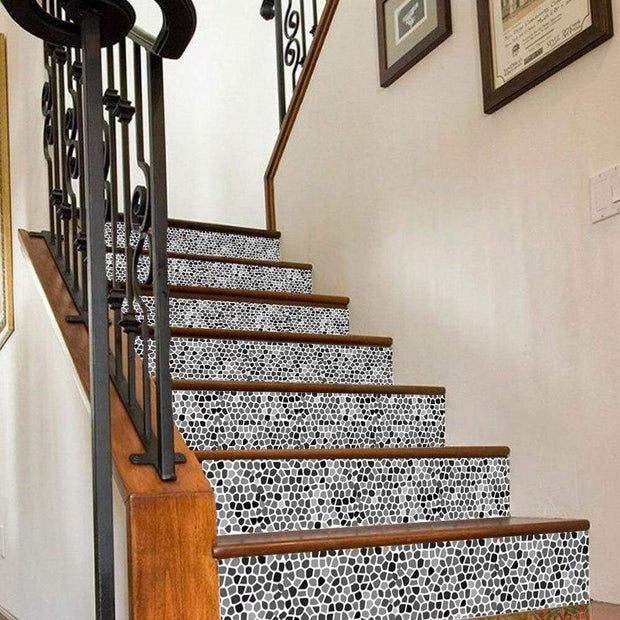 3D Arabian Style Stone Stair Decals 6pcs DIY Waterproof Mural Stickers of 7x40inches 3D Stickers