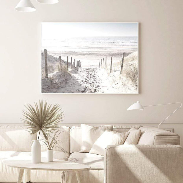 A Pathway to Beach Scenery Canvas Print Canvas