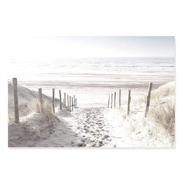 "A Pathway to Beach Scenery Canvas Print 6""x8"" / Landscape Canvas"