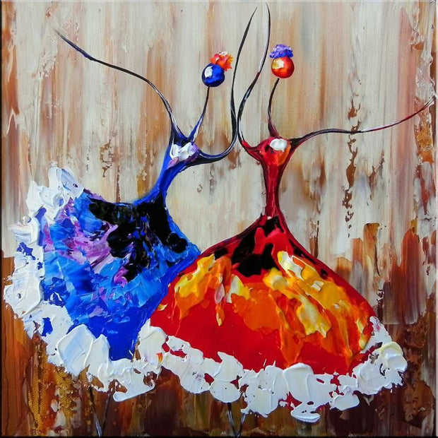 Abstract African dancers silhouette Oil Painting Oil Painting