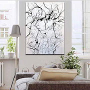 Abstract Face Line Drawing Canvas Poster Canvas