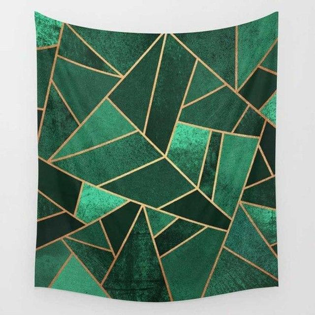 Abstract Geometry Wall Tapestry Tapestry