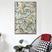 Abstract Leaves Canvas Print Canvas