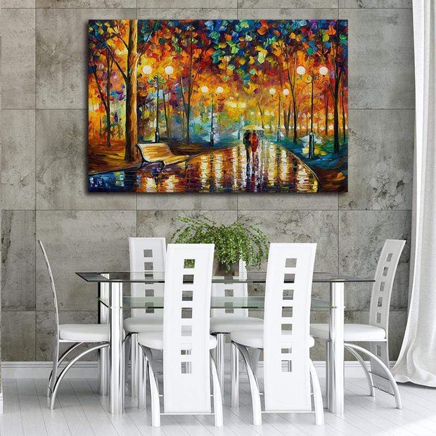 "Abstract Rainy Evening Walk Canvas Print 16""x24"" / Unframed Canvas"