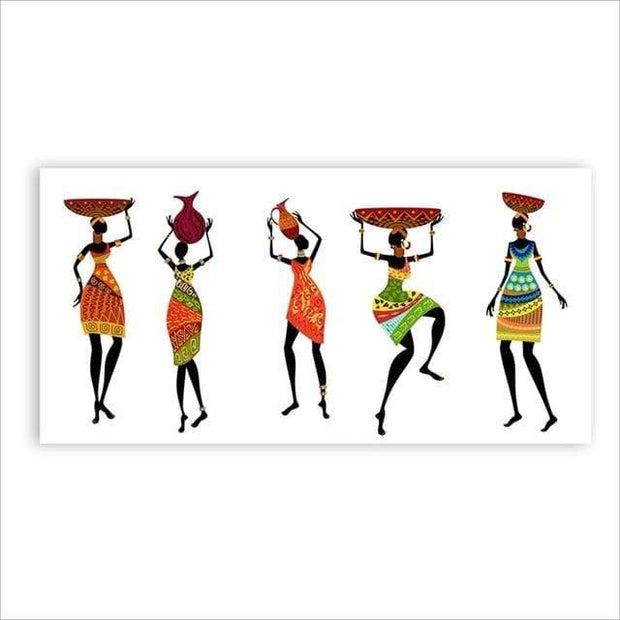 "African Women in Traditional Dress Canvas Poster 12""x16"" / Style A Print"
