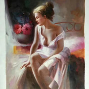 "Alluring Figures of Women Oil Painting Canvas A / 16""x20"" / Framed Oil Painting"