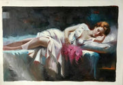 "Alluring Figures of Women Oil Painting Canvas C / 16""x20"" / Framed Oil Painting"