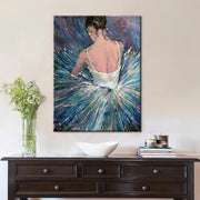 Ballerina in a Colorful Tutu Dress Hand Painted Oil Paining on Canvas Oil Painting