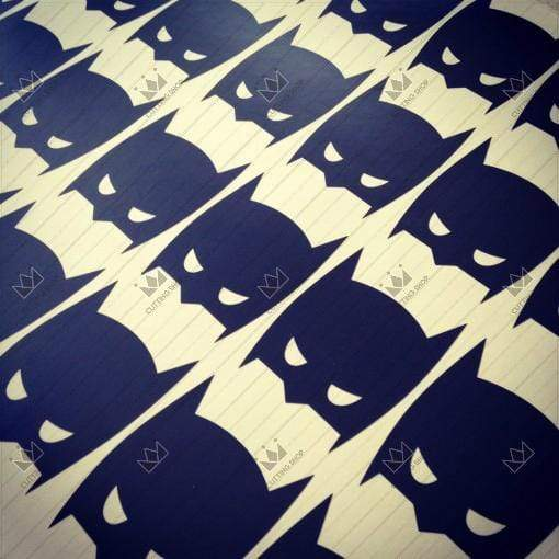 "Batman Wall Stickers 36 pcs - Batman Mask, Batarangs, Bats Batman Mask / black / 3"" Wall Sticker"