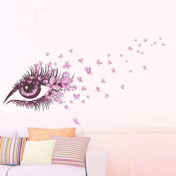 "Beautiful Eye Wall Sticker For Home Decor 52""x26"" Wall Sticker"