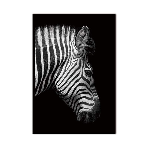 Black and White Wild Animal Photos on Canvas Canvas
