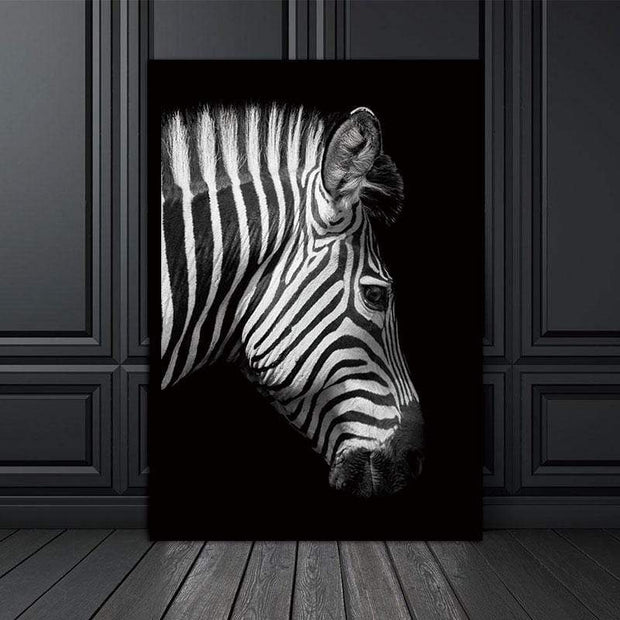 Black and White Wild Animal Photos on Canvas